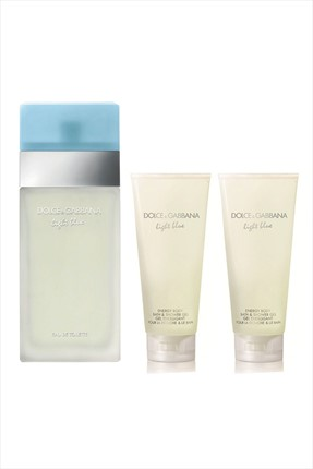 Dolce Gabbana Light Blue Edt 100 mL + 2 x Light Blue Duş Jeli 50 mL Kadın Parfüm Seti
