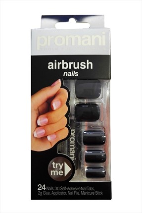 Promani Nar Çiçeği Rengi Takma Tırnak - Air Brush Nails Fingers 5001