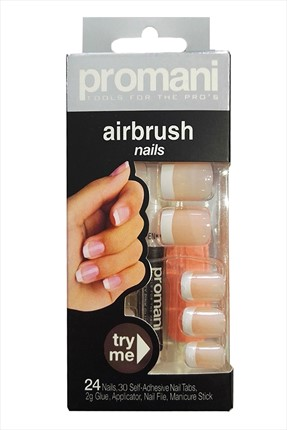 Promani French Rengi Takma Tırnak - Air Brush Nails Fingers 5006