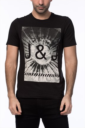 Jack & Jones Siyah T-Shirt - Biard Core Tee SS Crew Neck -