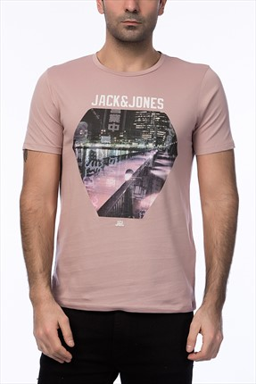 Jack & Jones Pembe T-Shirt - Cartoon Originals Tee SS Crew Neck -