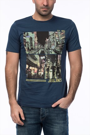Jack & Jones Lacivert T-Shirt - Cartoon Originals Tee SS Crew Neck -