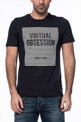 Jack & Jones Siyah T-Shirt - Anton Core Tee SS Crew Neck -