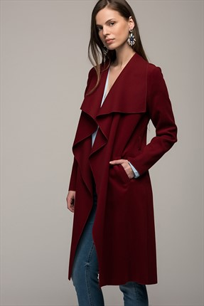 Y-London Kadın Bordo Trenchcoat 11661