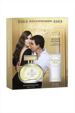 Antonio  Banderas Her Golden Secret Edt 80 mL + Deodorant 150 mL Kadın Parfüm Seti