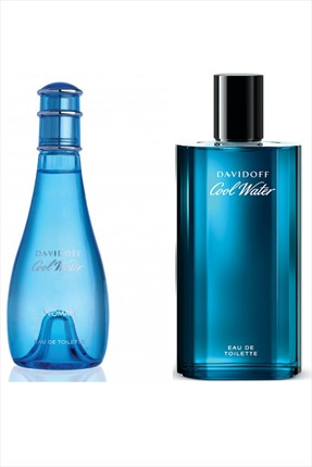 Davidoff Cool Water Edt 100 ml Kadın + Cool Water Edt 125 ml Erkek Parfüm Seti
