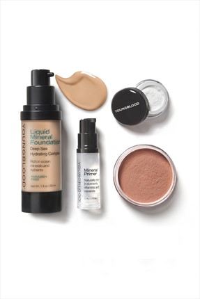 YOUNGBLOOD Makyaj Seti - Liquid Foundation Kit Golden Tan