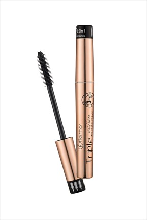 Flormar Siyah Maskara - Triple Action Mascara Black 8 mL