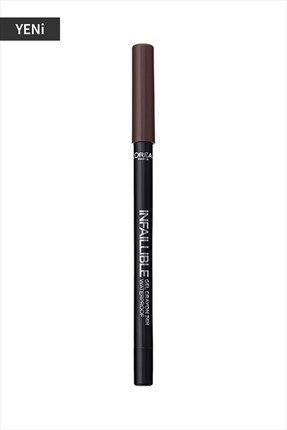 L'Oreal Paris Kahverengi Eyeliner - Infallible Gel Crayon Eyeliner 03 Brown