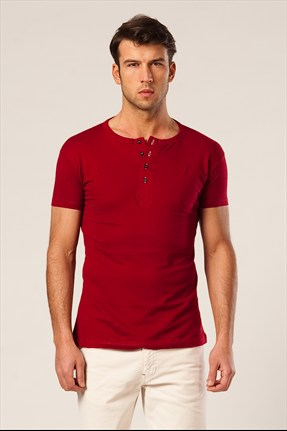 Phazz Brand Erkek Bordo T-shirt