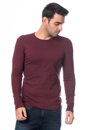 Superlife Erkek Bordo Sweatshirt SPR 901