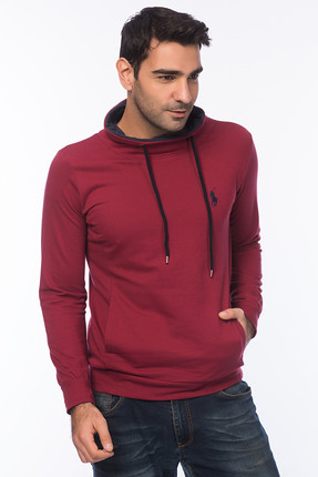 Superlife Erkek Bordo Sweatshirt SPR 945