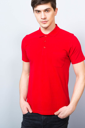 Adze Erkek Bordo Polo Yaka Pike T-Shirt