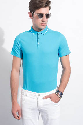 Sateen Erkek Turkuaz Polo Yaka T-Shirt