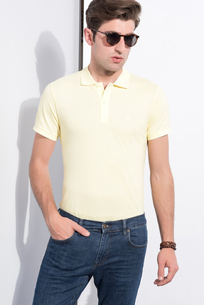 Sateen Erkek Limon Polo Yaka T Shirt