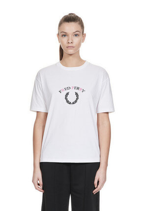 Fred Perry Kadın Embroidered G4122 T-Shirt 183FRPKTSH4122
