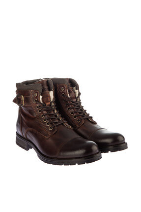 Jack & Jones Deri Bot - Albany Leaather Warm Brown Stone