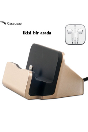 CaseLeap Case Leap Apple iPhone Şarj Seti Dock + Kulaklık