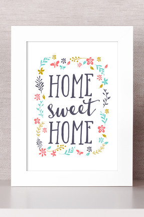 Bc Home Home Sweet Home Çerçeveli Tablo