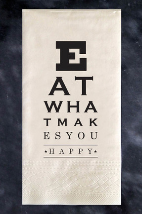 THANX CO Eat What Makes You Happy Peçete -TRE-03