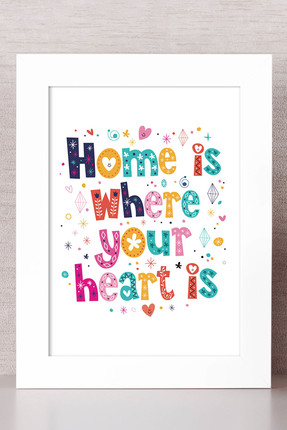Bc Home 16x21 Çerçeveli Tablo Home Is Where Your Heart Is
