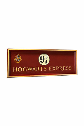 Noble Collection Harry Potter Hogwarts Platform 9 3/4 Sign