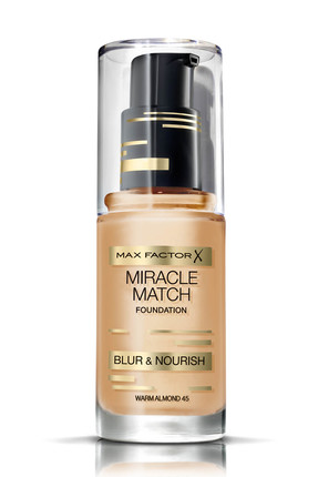 Max Factor Nemlendirme Etkili Fondöten - Miracle Match Foundation 45 Warm Almond