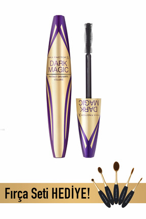 Su Geçirmeyen Maskara & Fırça Seti - Dark Magic Mascara Black Waterproof & Fırça Seti