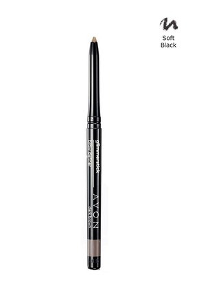AVON Siyah Kaş Kalemi - Glimmersticks Brown Definer Pencil Soft Black 8681298932604