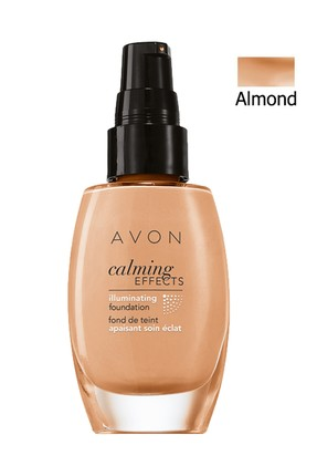 AVON Mat Fondöten - Calming Effects Foundation Almond 30 ml