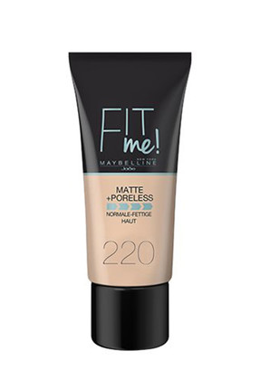 Maybelline Fondöten - Fit Me Matte + Poreless Foundation 220 Natural Beige 30 ml 3600531324551
