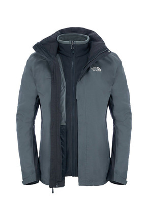 The North Face Evolution II Triclimate Erkek Mont Gri