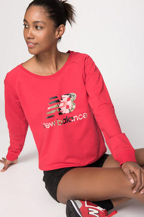 New Balance Kadın Sweatshirt - Tropical Sweat -