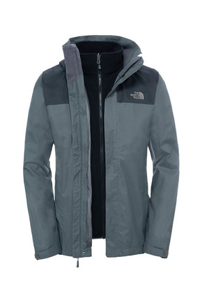 The North Face Evolve II Triclimate Erkek Mont Gri