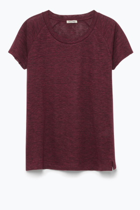 Kadın Bordo Tee-Shirt Mc Col Rond T-Shirt