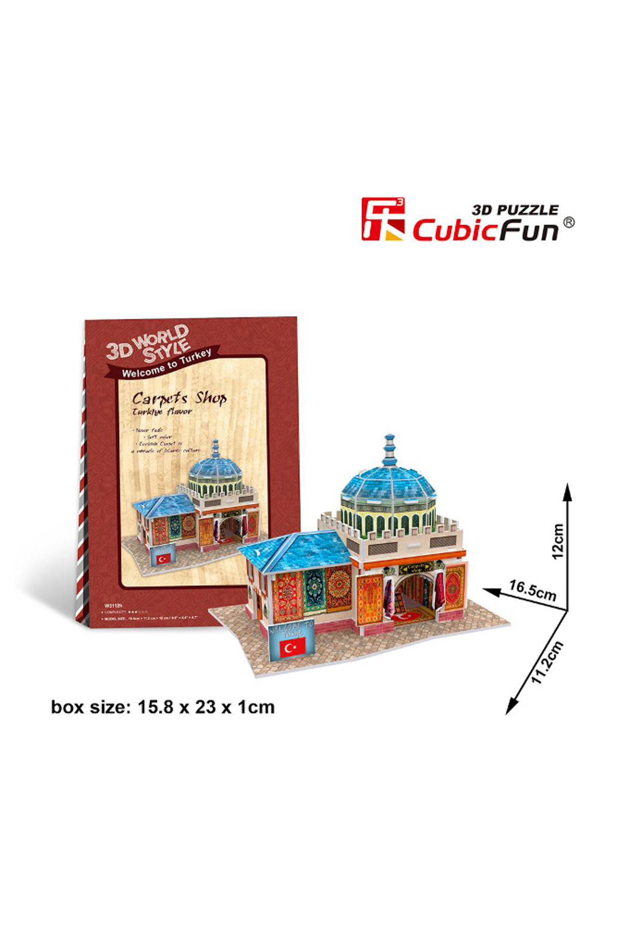 cubic fun 3d 26 parça puzzle turkish carpets shop