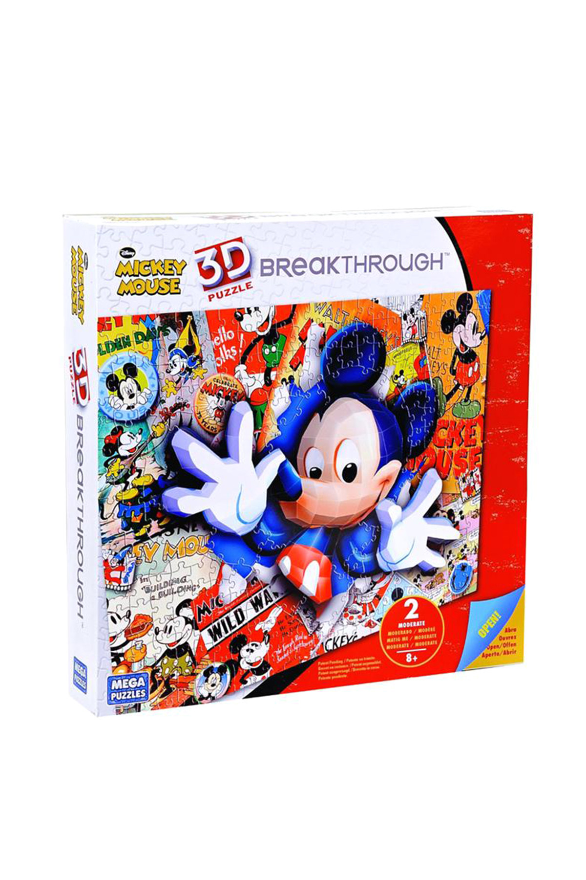 mega puzzles 200 parça 3d puzzle breakthrough mickey 50674