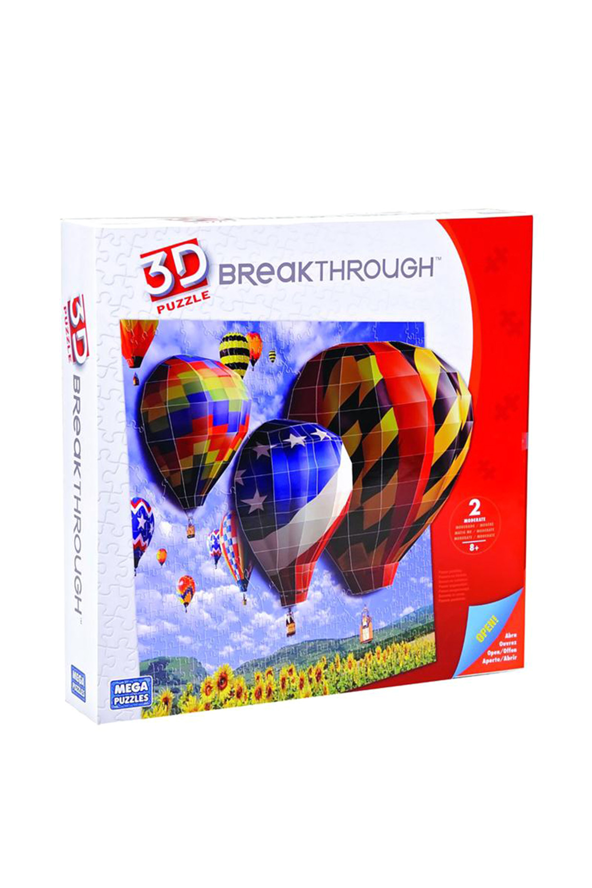 mega puzzles 200 parça 3d puzzle breakthrough balonlar 50669
