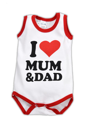 Fuar Baby I Love Mom&Dad Atlet Body