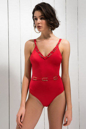 Candice One Piece Red