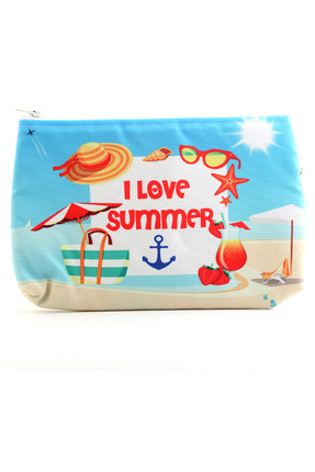 I Love Summer Baskılı Clutch CNT 0012