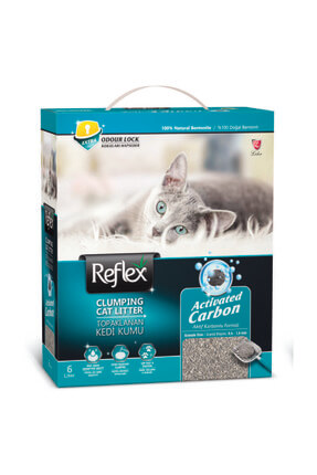 Box 6 Lt Active Carbon Gri Kedi Kumu