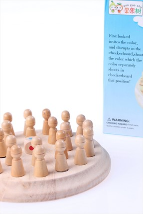 Learning Toys Wooden Memory Chess /