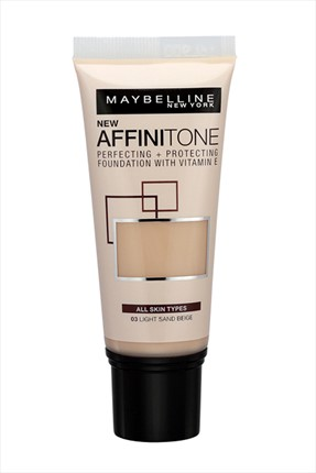 Maybelline Nemlendirme Etkili Fondöten - Affinitone Foundation 03 Light Sand Beige 30 ml 3600530427451