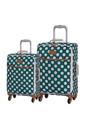 ITLUGGAGE Turkuaz Unisex Kabin ve Orta Boy Valiz Seti VLZ.IT.2263.TURK.OK