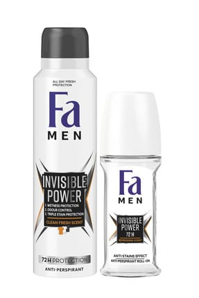 Fa Men Xtreme Invisible Power Deosprey + Roll On 50 Ml