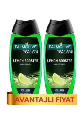 Palmolive Men Lemon Booster 2in1 Erkek Duş Jeli 2x500 ml+ Lif