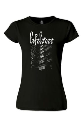 Lord Lifelover Siyah Bayan Tshirt - BS-1265