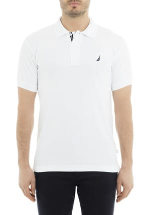 Nautica Erkek Polo Yaka T-shirt Bright White K41000T
