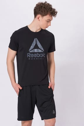Reebok Erkek T-shirt - Run Graphic Tee - BQ7458